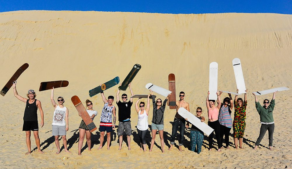 Australia Gap Year Port Stephen Sandboarding Epic Adventure in Australia Work and Travel Down Under Workaway during your Gap Year Australia Working Holiday Adventure Grabatour Travel