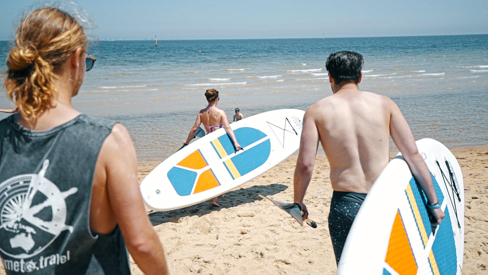 Oz-Melbourne-Gap-Year-Paid-Work-Working-Holiday-grabatour-Travel-Paddleboarding-St-Kilda-Welcome-To-Travel-Melbourne