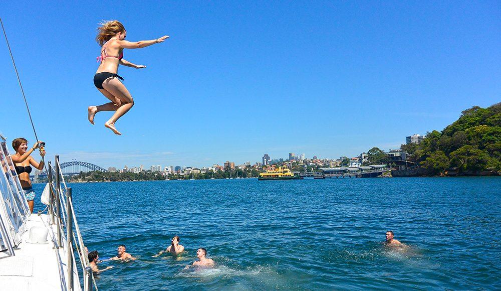 Sydney Adventure Oz Adventure Sydney Harbour Swimming Adventure Travel in Sydney Australia Epic Adventure on a Gap Year or Working Holiday Grabatour Travel
